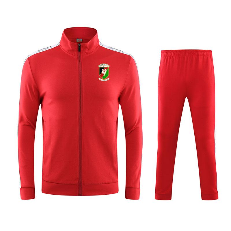 Glentoran F. C 020 Frühling und Herbst Winter neue Jacke Fußball-Trainingsanzug lang Freizeitkleidung Sporttrainingsanzug Baumwollkleidung läuft