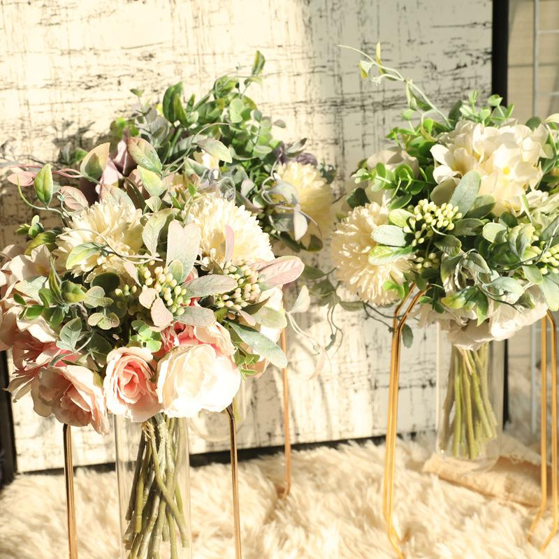 flower decoration for wedding reception.htm 2020 nordic artificial flower rose holding wedding bouquet silk  2020 nordic artificial flower rose