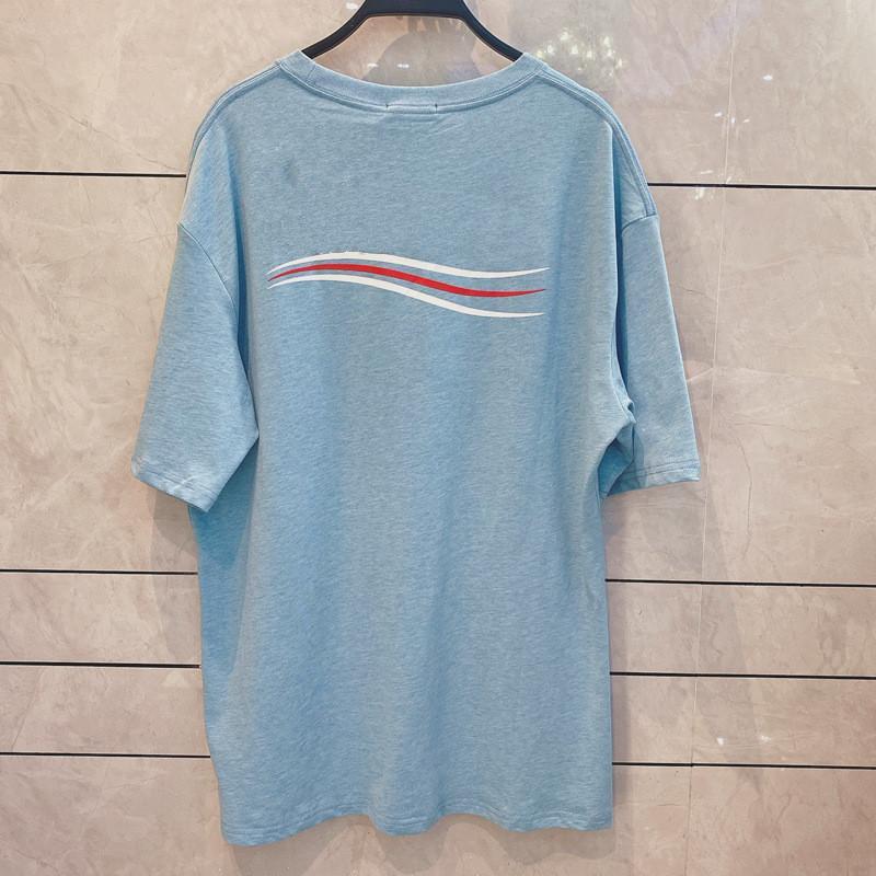 2020 fashion designer di lusso della maglietta nuovo arrivo foschia blu cola LOGO uomini sciolto a maniche corte delle donne manica corta