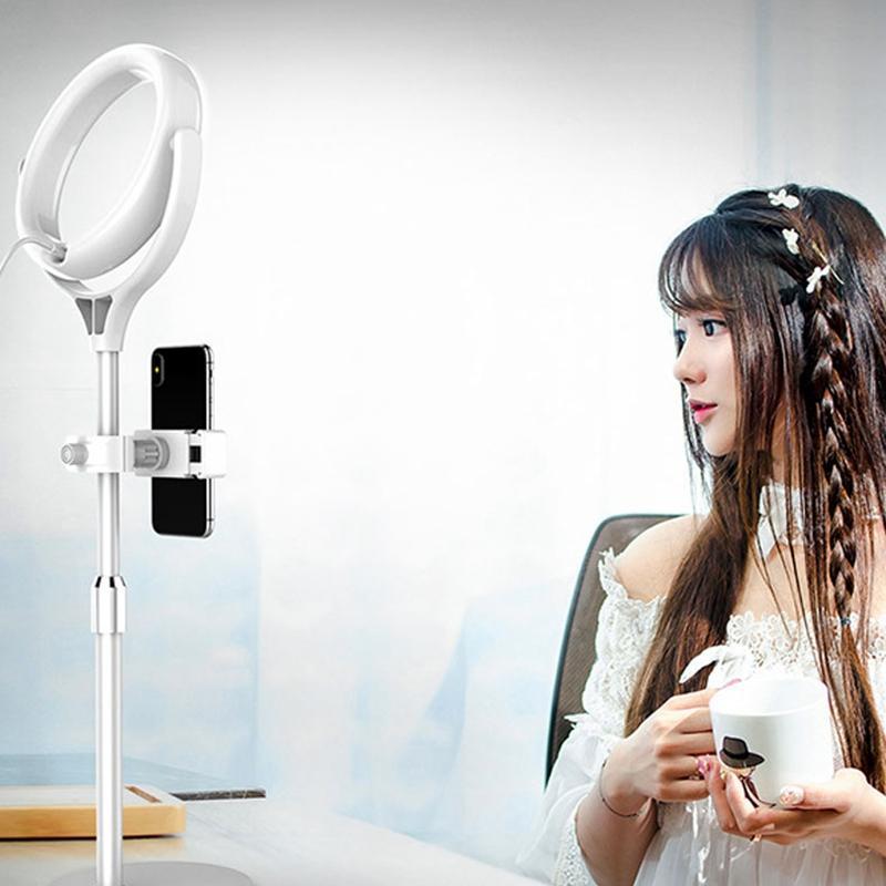 Dimmable LED Anneau caméra Studio Light photo visiophone lumière lampe Annulaire trépieds selfie Bâton Anneau pour Canon Fill Light Nikon