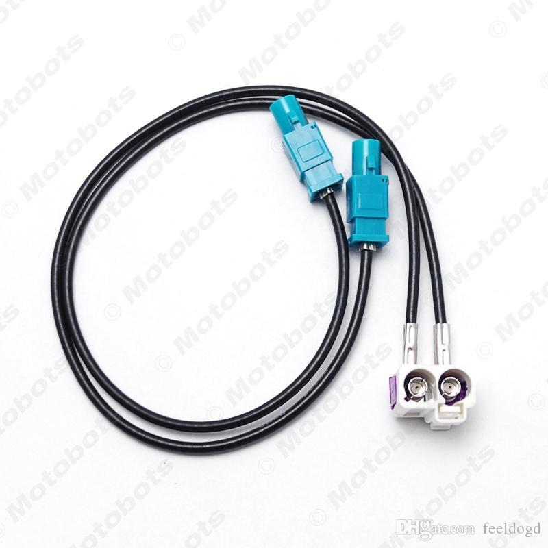 الجملة سيارة OEM 2Female ل2Male فقرا II راديو هوائي محول للحصول على فولكس فاجن جيتا / جولف MK5 / MK6 / باسات B6 / B7 / تيغوان RNS510 / RCD510 / 310 # 3937