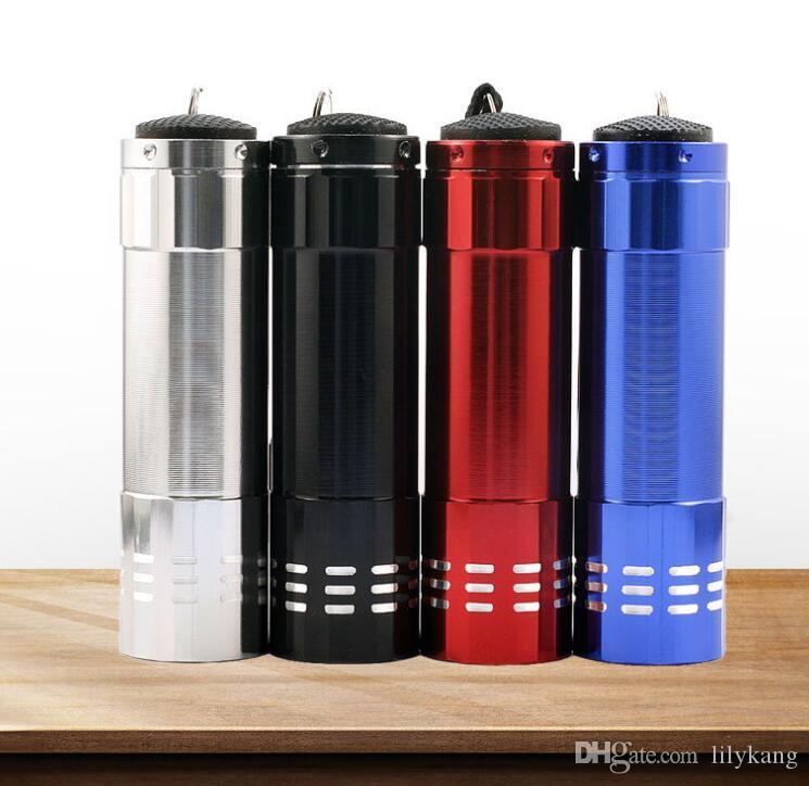 Mini 9 LED UV-Licht Taschenlampe Violettes Licht 9 LED Schwarzlicht Taschenlampe lila Lichter Hintergrundbeleuchtung Lampe tragbare Outdoor-Taschenlampen Taschenlampen