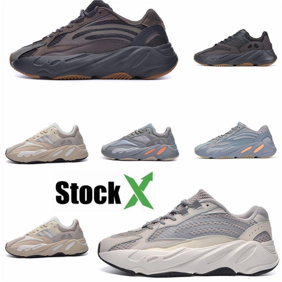 Новая 700 Wave Runner Сиреневой Инерция Мужской обуви Kanye West Дизайнерская обувь Мужчины Женщина 700 V2 Статических Спортивный Seankers Размер 36-45 # 044F91 # # QA857