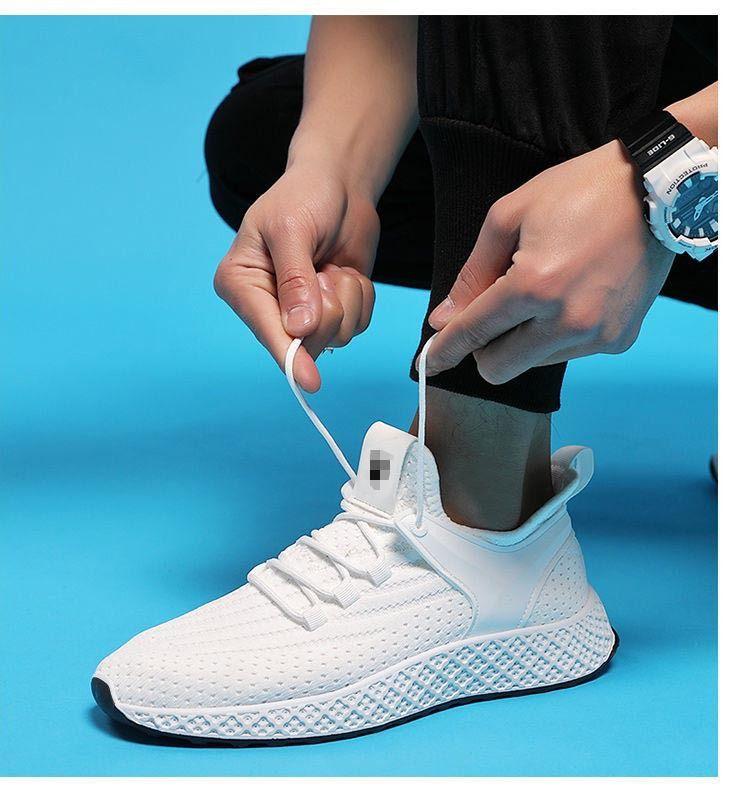 2020 nuevos zapatos deportivos zapatos casuales Corea tendencia cómoda plana del talón de los hombres blancos de la boca baja transpirable zapatillas