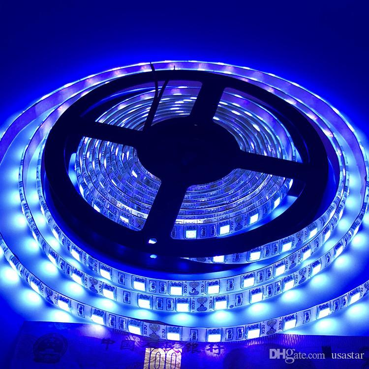 Strisce di luce perline lampada UV 12V, 1m 60leds impermeabile per Indoor Dance Party, Pittura del corpo, UV illuminazione, UVA striscia della luce LED letto in camera