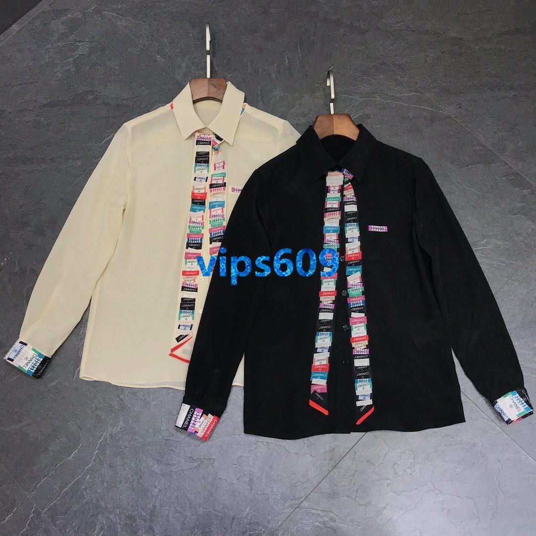 하이 엔드 여성의 소녀 셔츠는 컬러 문자와 스트라이프 패턴 리본 패션 티 긴 소매 솔리드 컬러 옷깃 셔츠는시를 여자 상판