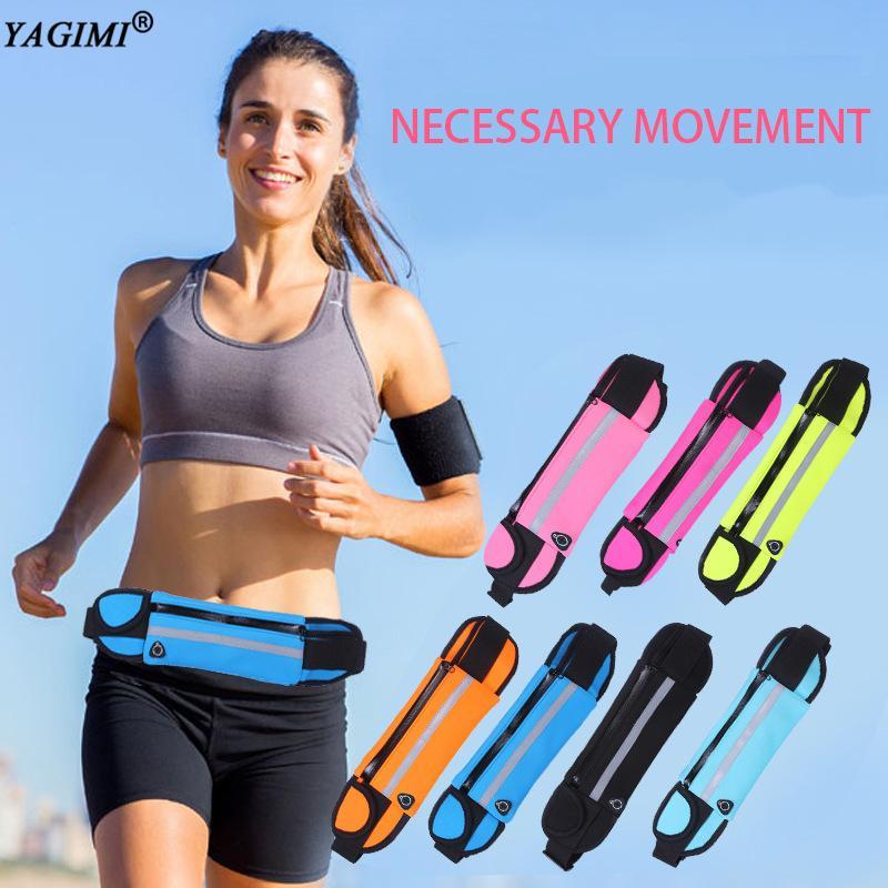 YAGIMI 2020 New cintura Saco Sac brilham no escuro corrente Bloco de Fanny Workout Package cintura Packs Cincher Abdominal Bag Cinturão Belt