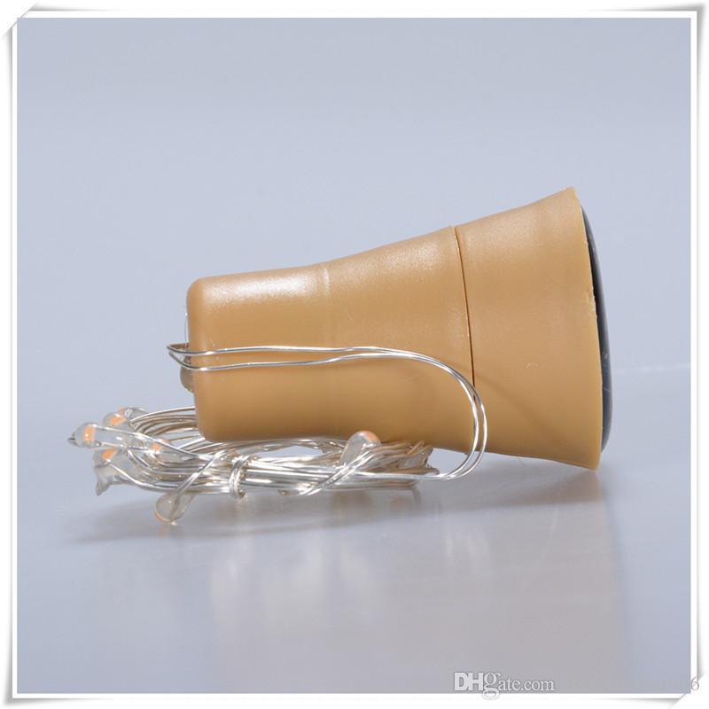 10LED New Solar Powered Wine Bottle Cork Forma Night Lights Fata Lampada String Light Fashion 5Clolers