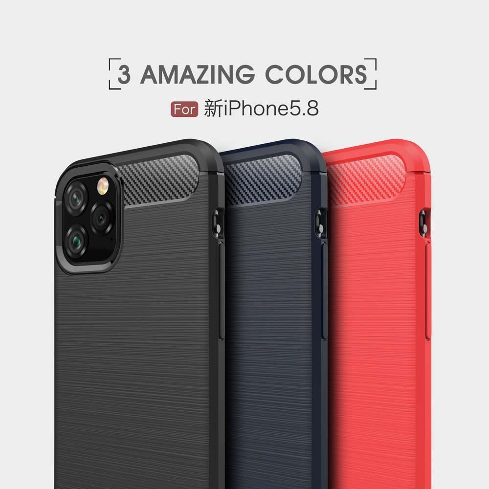 Углеродное волокно Кок Обложка для iPhone 11 Pro Max Soft TPU чехол для iPhone 6 6S 7 8 Plus X XS MAX XR Назад Кок Обложки