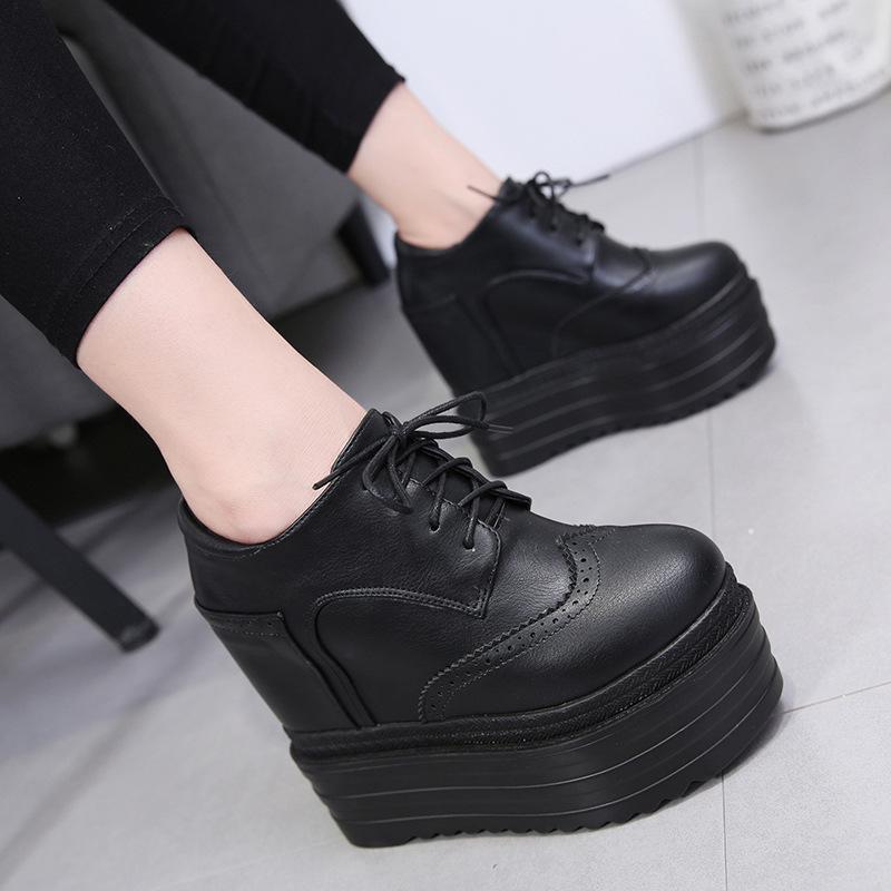 Обувь Узелок Bootee женщина 2019 Женщины Boots зима башмаков Платформа Круглый Toe Роскошная Черная осень Высокий каблук голеностопного Клин