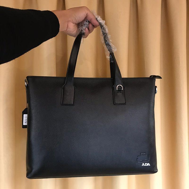 Pink sugao Mens Briefcase Business Bag Phome top genuine Leather cow Mens Messenger tote Crossbody Bag Shoulder bag for work