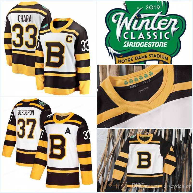 Mens 2019 Inverno maglie classiche Bruins di Boston Zdeno Chara Brad Marchand David Pastrňák PatriceBergeron Tuukka Rask Hockey maglie