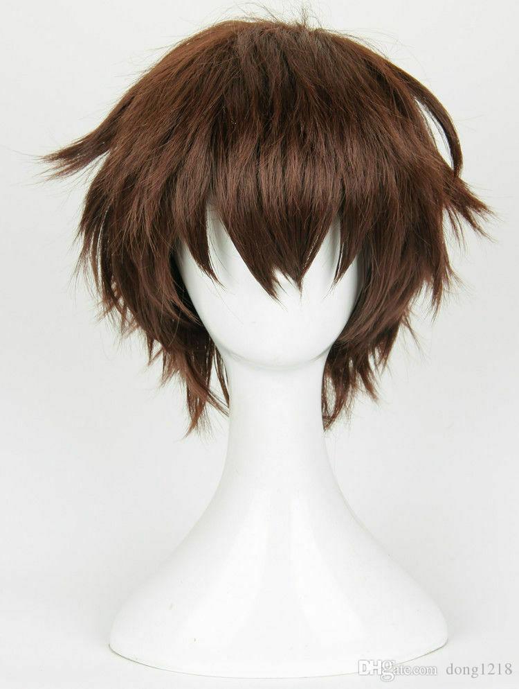 Seraph de la fin Perruque cosplay brune stylisée