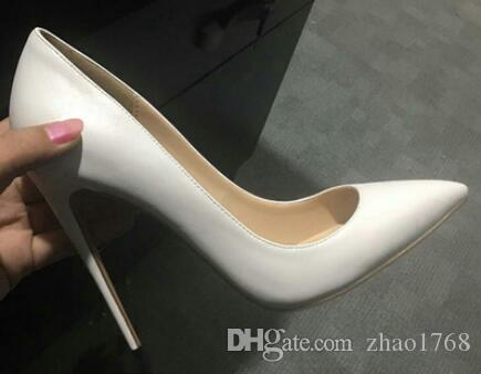 Luxury Designer Party Dress Red Bottom Sexy Pantent Leather Ballet Sexy Pointed Toe high heels Comfortable Women Shoes Size 35-44
