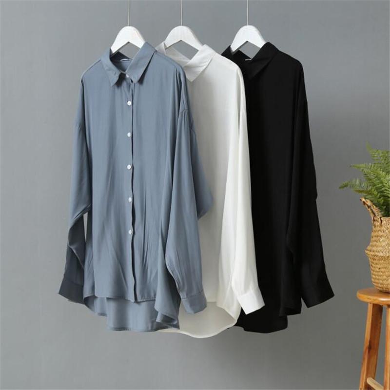Bahar Kadınlar Bluz 2020 Yaz Bluz Kore Uzun Kollu Bayan Bluzlar Vintage Kadın Gömlek blusas Roupa Feminina Tops Tops