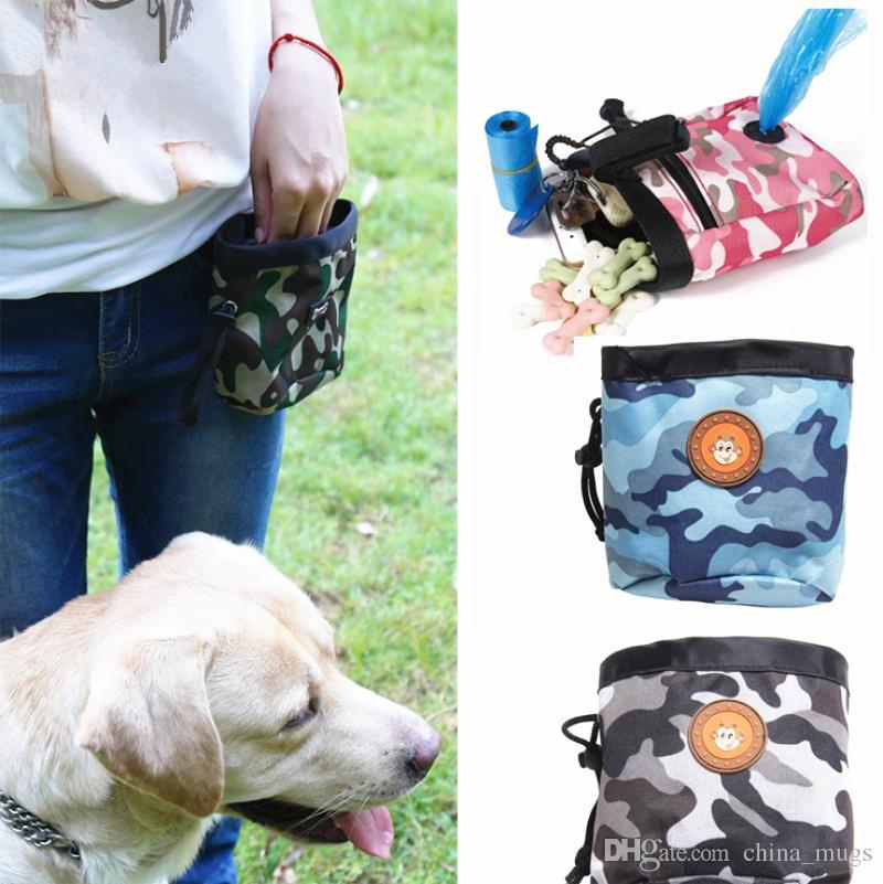 Pet Dog Pouch Hundetraining Treat Taschen tragbare abnehmbare Doggie Pet Feed Tasche Welpen Snack Belohnung interaktive Taille Tasche