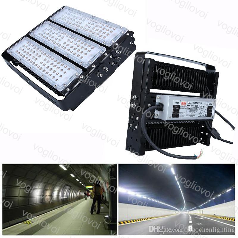 Luzes do túnel 150w SMD3030LEDS do módulo do holofote da aleta da aleta da aleta impermeável ip65 Cool branco para o projeto da estrada