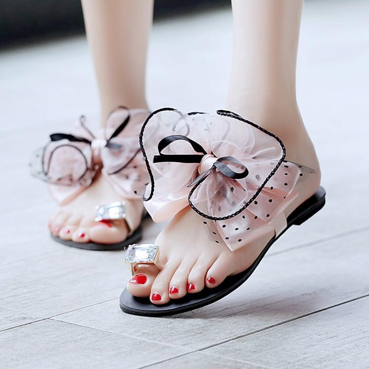 Women Toe Ring Cork Platform Slippers Sandals Shoes Slip On Slides Summer Beach