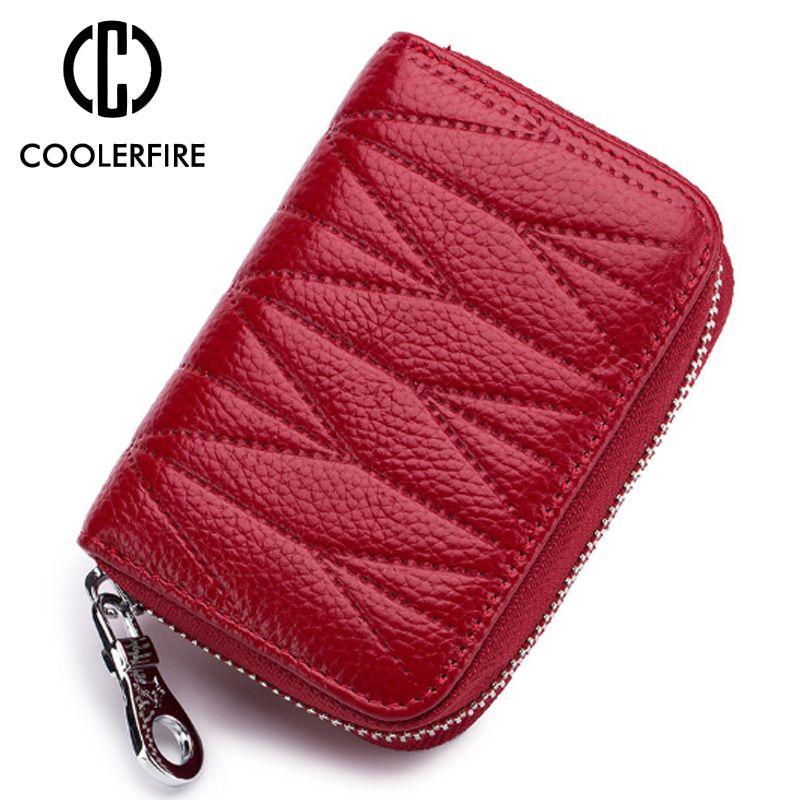Portafogli donna clutch alta capacità genuino portafoglio in pelle di mucca Fashion Lady breve portafoglio elegante borsa femminile PJ042
