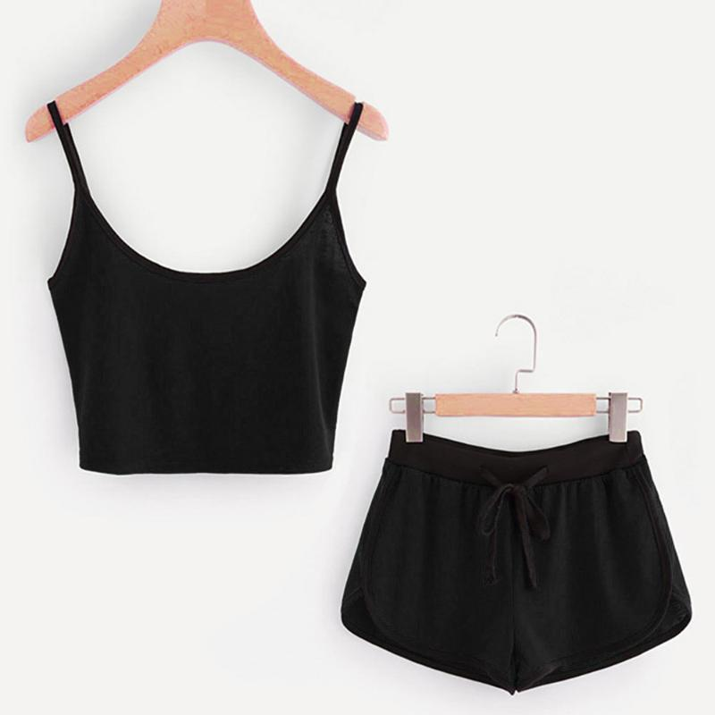 Kadınlar Seksi Patchwork Yoga Suit Egzersiz Spor Yoga Seti Dize Yelek Kısa Mahsul Kısa Sıcak ayarlar Atletik + Sıcak Şort Pantolon Tops