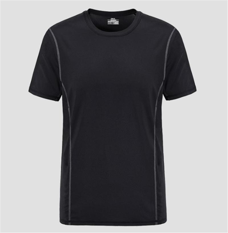 Erkek Tasarımcı Casual Giyim Koşu Saf Renk Kısa kollu Mürettebat Boyun İnce Tees Yaz Pullover tişörtleri