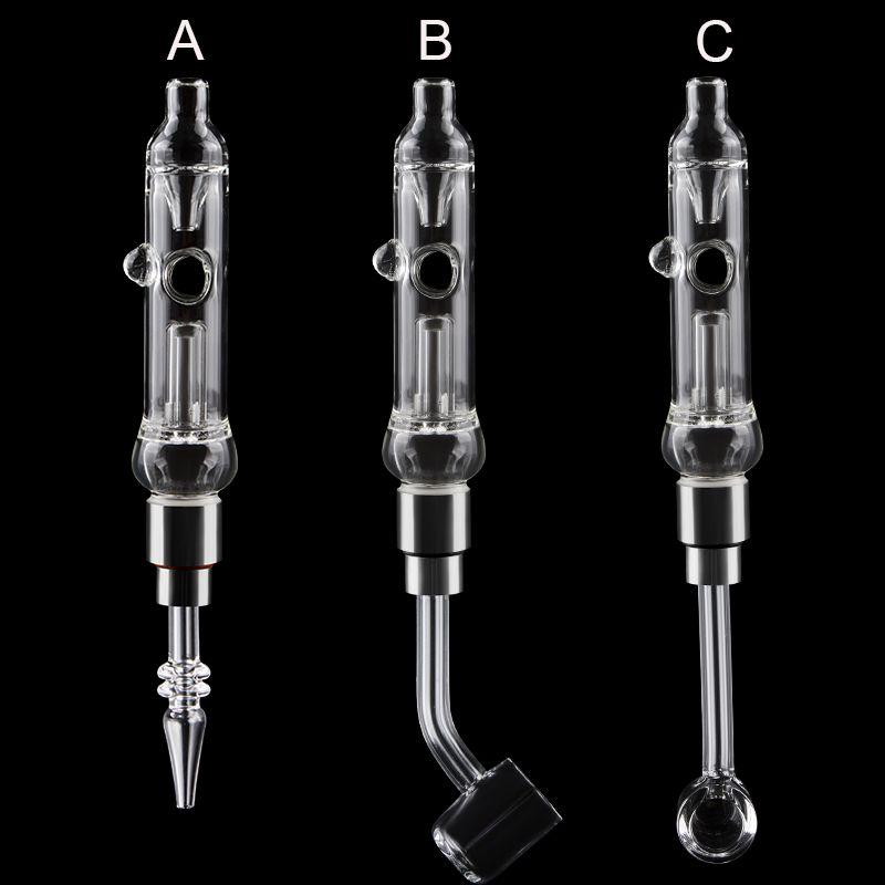 Pro Mini Glaspfeife smokingstraw Mit Dab Rig 510 Quarz-Tipps 45/90 Grad Quarz Banger Dab Rig Oil Rig Glas Wasser Bongs