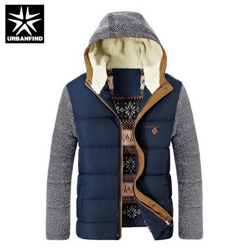 브랜드 한국어 남자 패션 따뜻한 Parkas 크기 M-3XL 패치 워크 디자인 코 튼 패딩 스타일 젊은 남자 겨울 자 켓