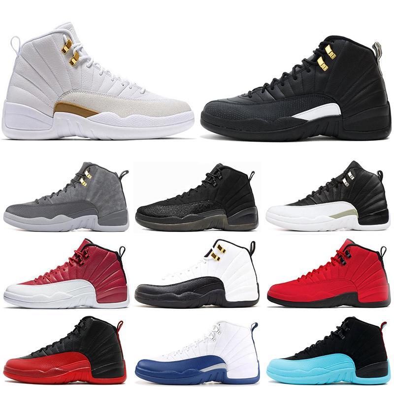Baratos 12 12s homens tênis de basquete tênis preto branco PLAYOFF DO MESTRE Gym vermelho gama azuis 12s homens calçados esportivos 7-13