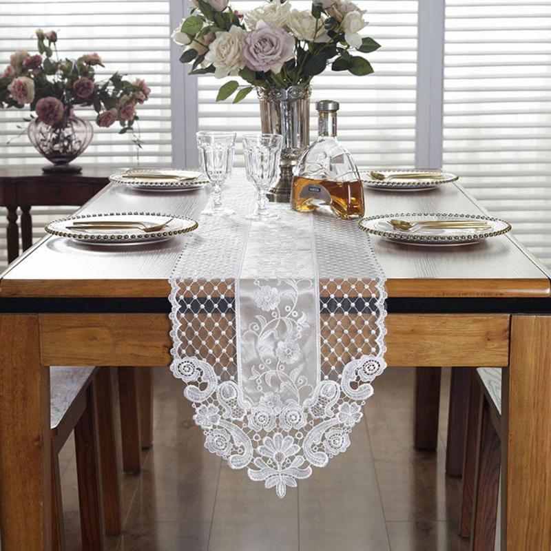 Proud Rose Lace Table Flag Princess Table Runner Beige TV Ark Cover Cloth French Romantic Tablecloth Hotel Home Party Decoration