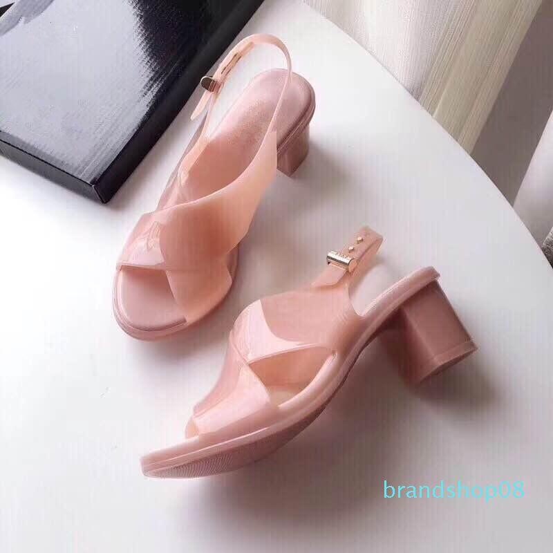 Fairy2019 Summer Jam sandalias de mujer de plataforma a prueba de agua de rocío del dedo del pie con zapatos de hebilla de cinturón de la Mujer