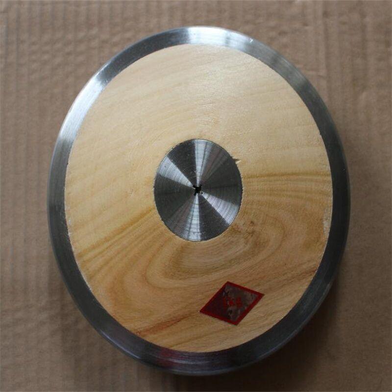 1,0 kg de madera sólida del disco Atletismo lanzamiento de disco de entrenamiento para la competencia de las mujeres