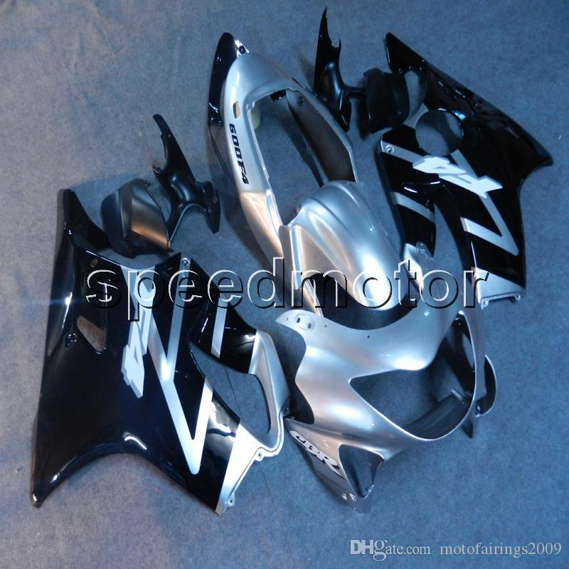 23colors+Gifts Injection mold silver black motorcycle cowl Fairing for HONDA CBR 600F4 1999 2000 CBR600 F4 99-00 ABS plastic kit