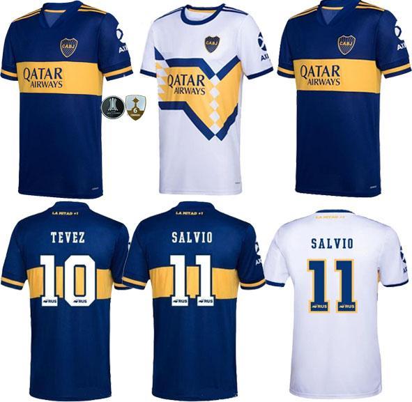 2020 21 Boca Juniors distância branco DE ROSSI Futebol 2020 2021 Boca Juniors em casa camisas de futebol azul TEVEZ BENEDETTO Nandez PAVON MAN