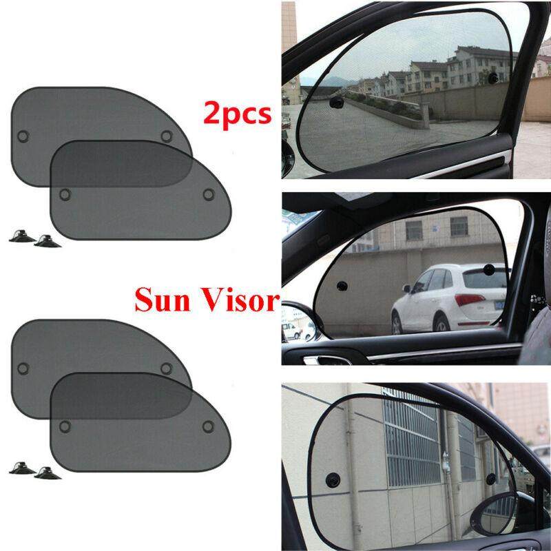 2 x Black Mesh Car Side Rear Window Sun Shade Cover Visor Screen Universal