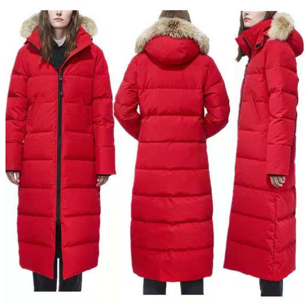 2019 Winter бренд Канадского Стиль Теплого вниз пальто ветровка X длинной куртка Удлиненная Шинель капюшон -40 Весте фам Платье Mujer T191030