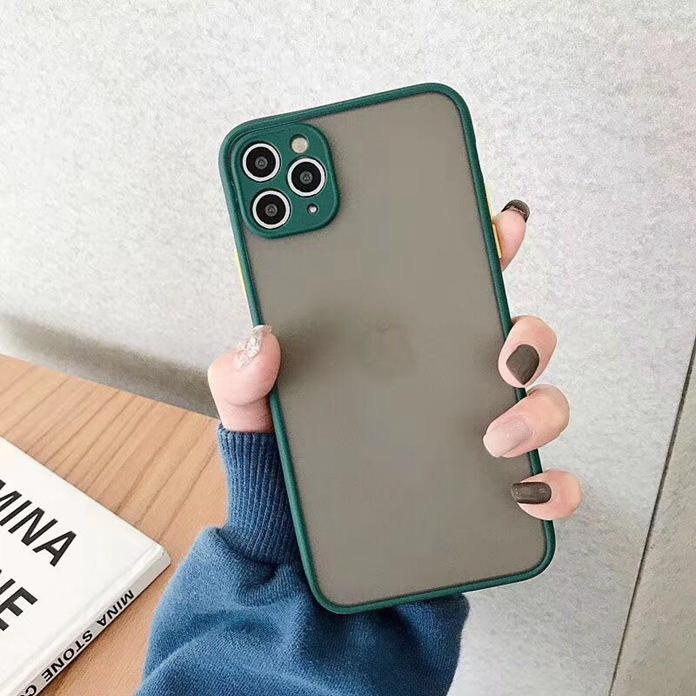 Frosted Matte TPU + PC Case For Iphone 11 Pro Max X XS XR 8 7 6 6S Plus SE 2020 SE2 Slim Camera Lens Protection Skin Cover Cases 1000pcs