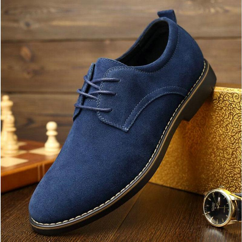 Männliche Wildleder-Leder-klassische Brogue-formale Schuhe Männer Kleid Schuhe männliche Hochzeitsbüro Business-Schuhe A54-87