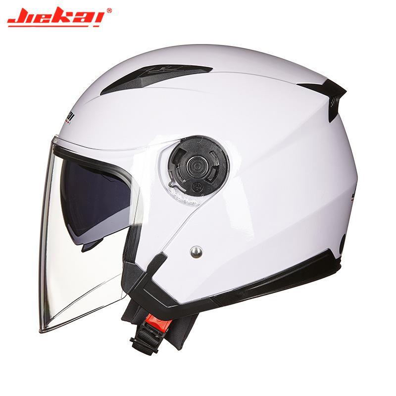 Sturzhelm-Motorrad-geöffnete Gesichts-Moto Racing Motorrad Halb Helme mit Doppelobjektiv Capacete Para Motocicleta Cascos Para 55-61CM