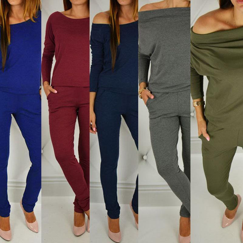 Les nouvelles femmes Designer longues Tenues Printemps Automne manches bretelles Crayon Pantalons barboteuses Mode Femme Vêtements Tenues