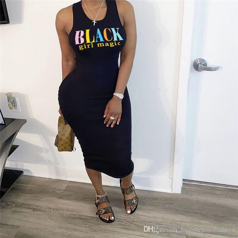 إمرأة الصيف فساتين مصمم رسائل أكمام نحيل مثير أسود فساتين الهيئة غير الرسمية عارضة الصلبة اللون أنثى الملابس