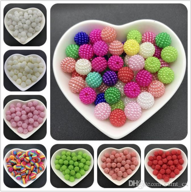 10mm 100pcs acrílico Beads Bayberry rodada solta pérolas Fit Europa esferas para fazer jóias DIY Acessórios