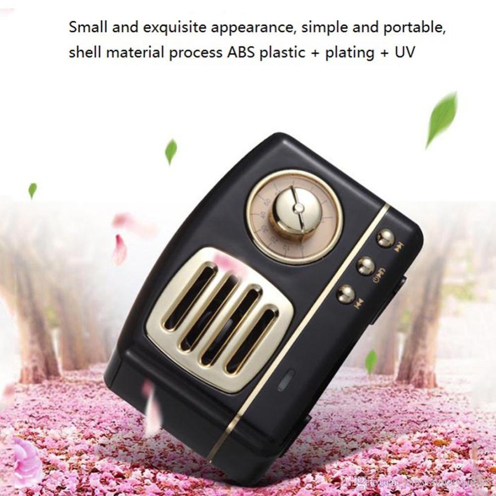 Style Mobile Phone Bluetooth Speaker Innovative Radio Retro Portable Mini Wireless Bluetooth Speaker Loudspeaker Speakers 50pcs ZY-YX-D