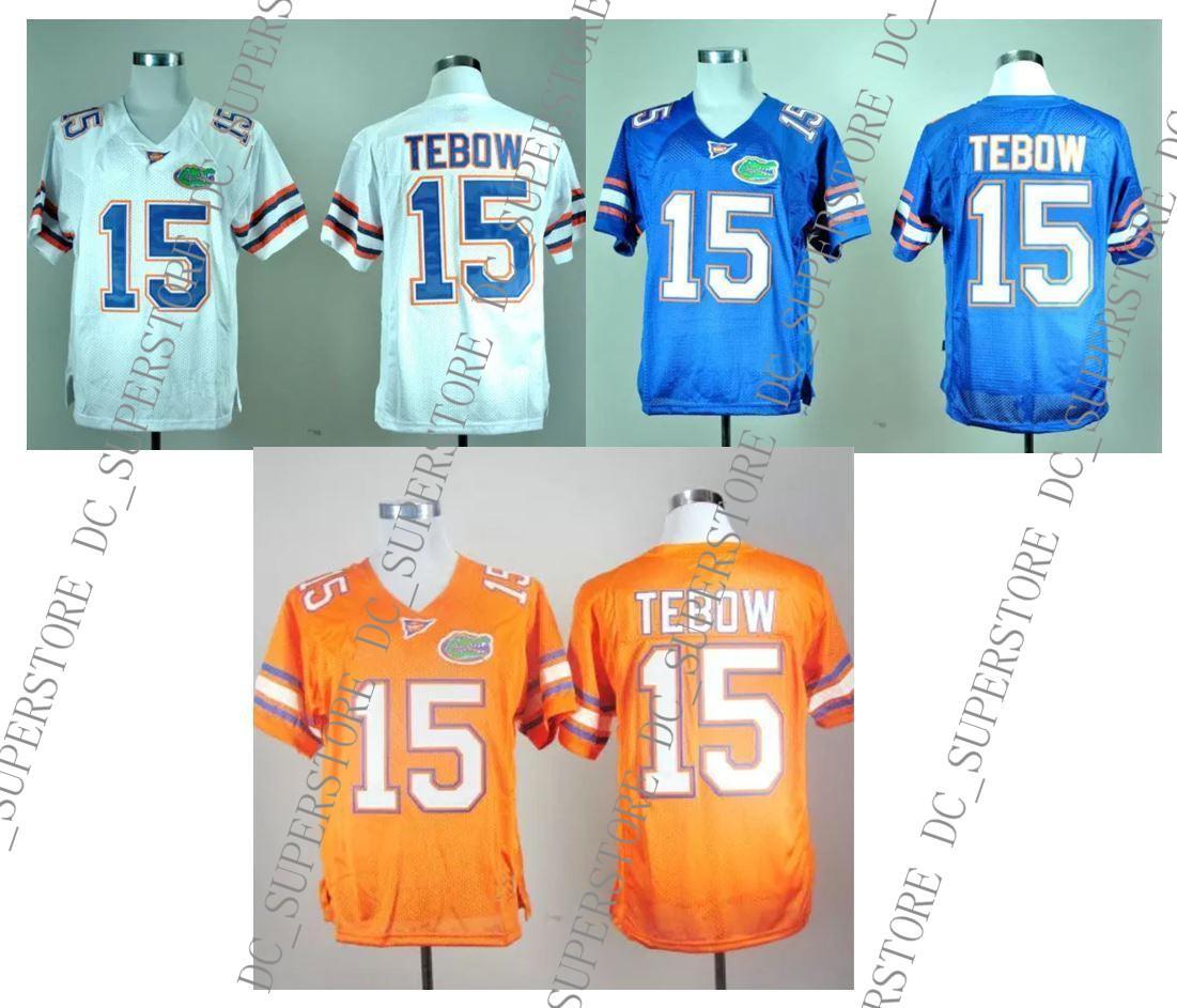 Günstige benutzerdefinierte Tim Tebow # 15 Florida Gators College Fußball Jersey Männer Erwachsene genäht besonders angefertigt beliebige Name Nummer genäht Jersey XS-5XL