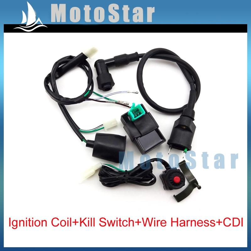 pit bike wiring harness 2020 wiring loom harness kill switch ignition coil ac cdi for  kill switch ignition coil ac cdi