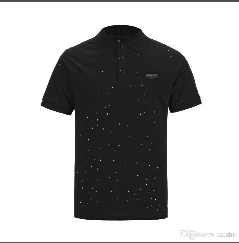Marca top Camiseta Hombre Diseñador Camisetas Negro Blanco Rojo Hombre Diseñador de moda Camisetas Top