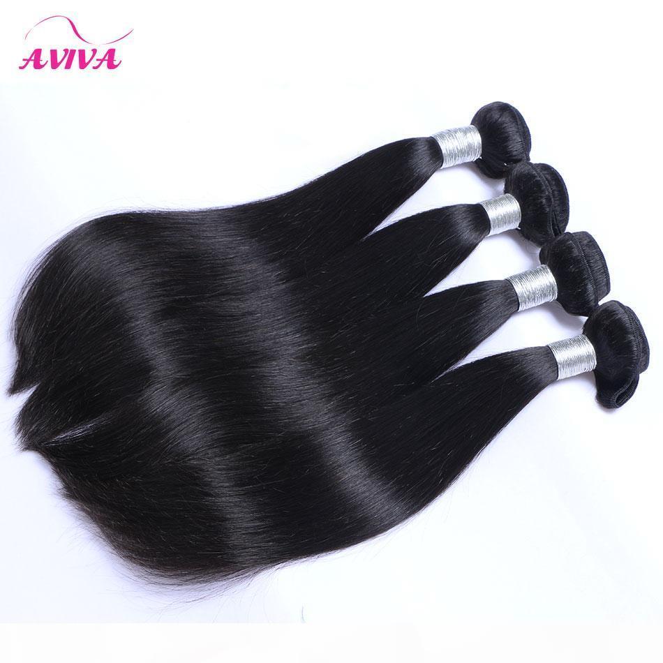 Mongolie droite Virgin Hair Weave Bundles 3 4 pièces Lot mongol non transformés Silky droite Remy prolongements de cheveux humains Couleur Noir Naturel