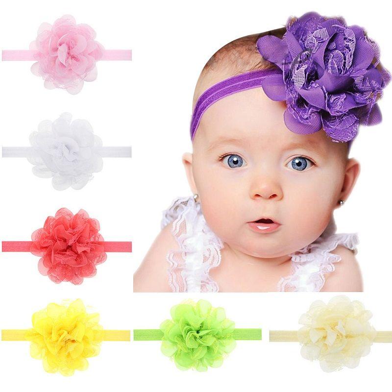 18pcs Baby Girls Flower Headband Chiffon Elastic Hair Band Hair Accessories for Infants Newborn Toddler