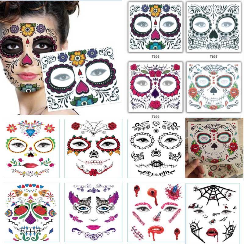 Tek kullanımlık Göz Farı Sticker Sihirli Göz Güzellik Yüz Suya Geçici Dövme Etiket Makyaj Sahne Cadılar Bayramı Parti Malzemeleri Için HH9-2302