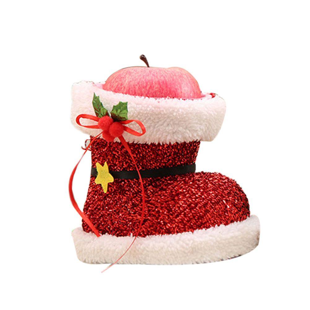 Zapatos de Navidad Regalo Tratar Candy Storage Pounch Bag Holder PVC Party Decoration