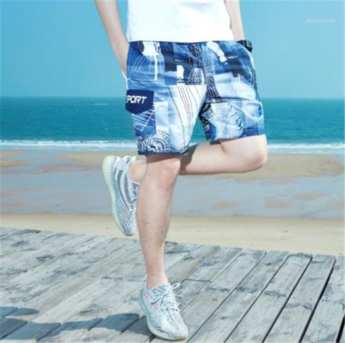 Vacances Pantalon New Summer Mens Sport Casual Plage Pantalon Vêtements mode Pantalons style vrac Maillot de bain Mer